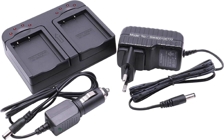 Vhbw Dual Akkuladegerät Kompatibel Mit Olympus E 400 Kamera
