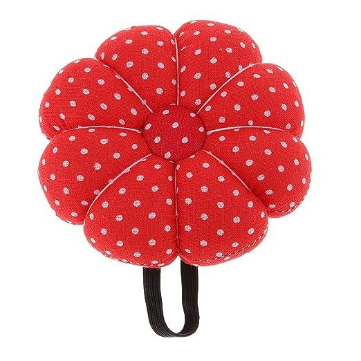 B Baosity Llamativa Almohadilla de Alfiler Cojín de Pin Caja de Costura Almacenaje - Rojo
