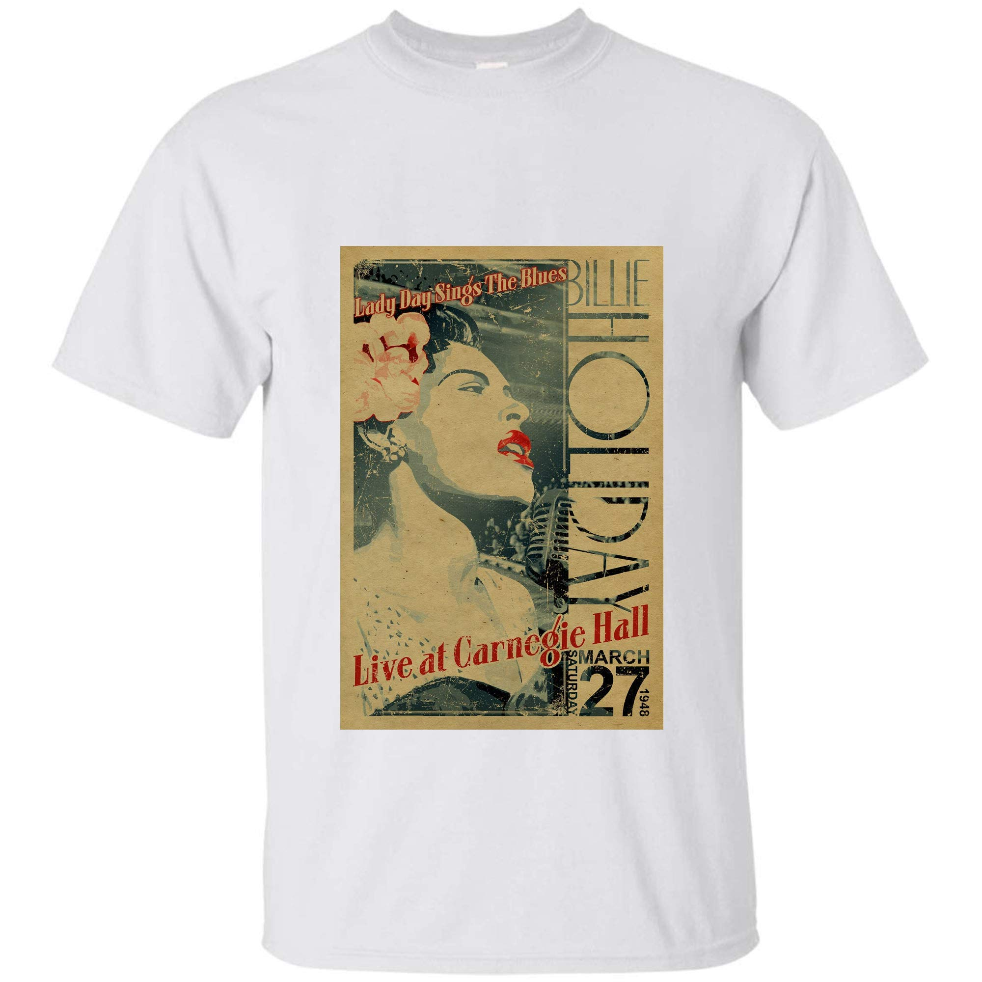 Billie Holiday Poster Lady Day Sings The Blues Live At Carnegie Hall T Shirt For M