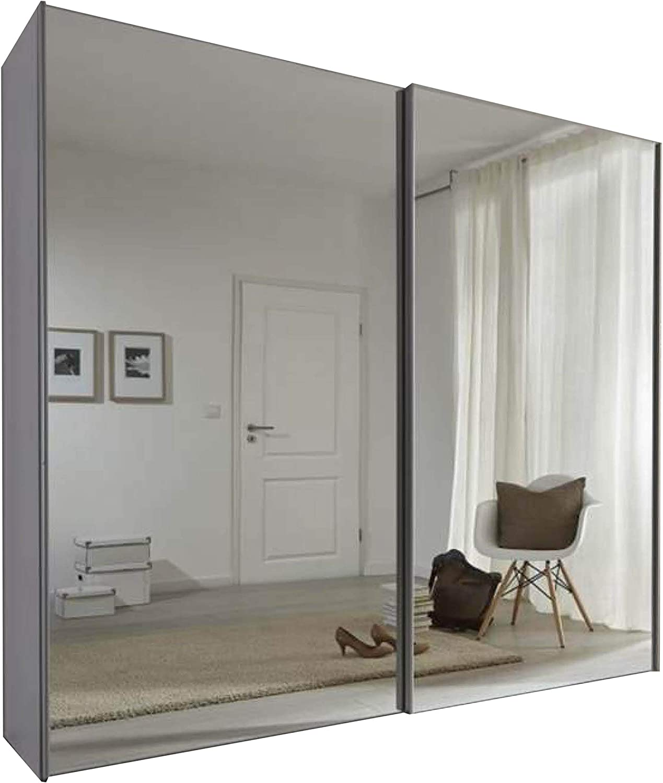 Displaycabinetsuk Komet White Mirror Sliding Door Wardrobe 236cm Wide German Made Bedroom Furniture Amazon Co Uk Kitchen Home