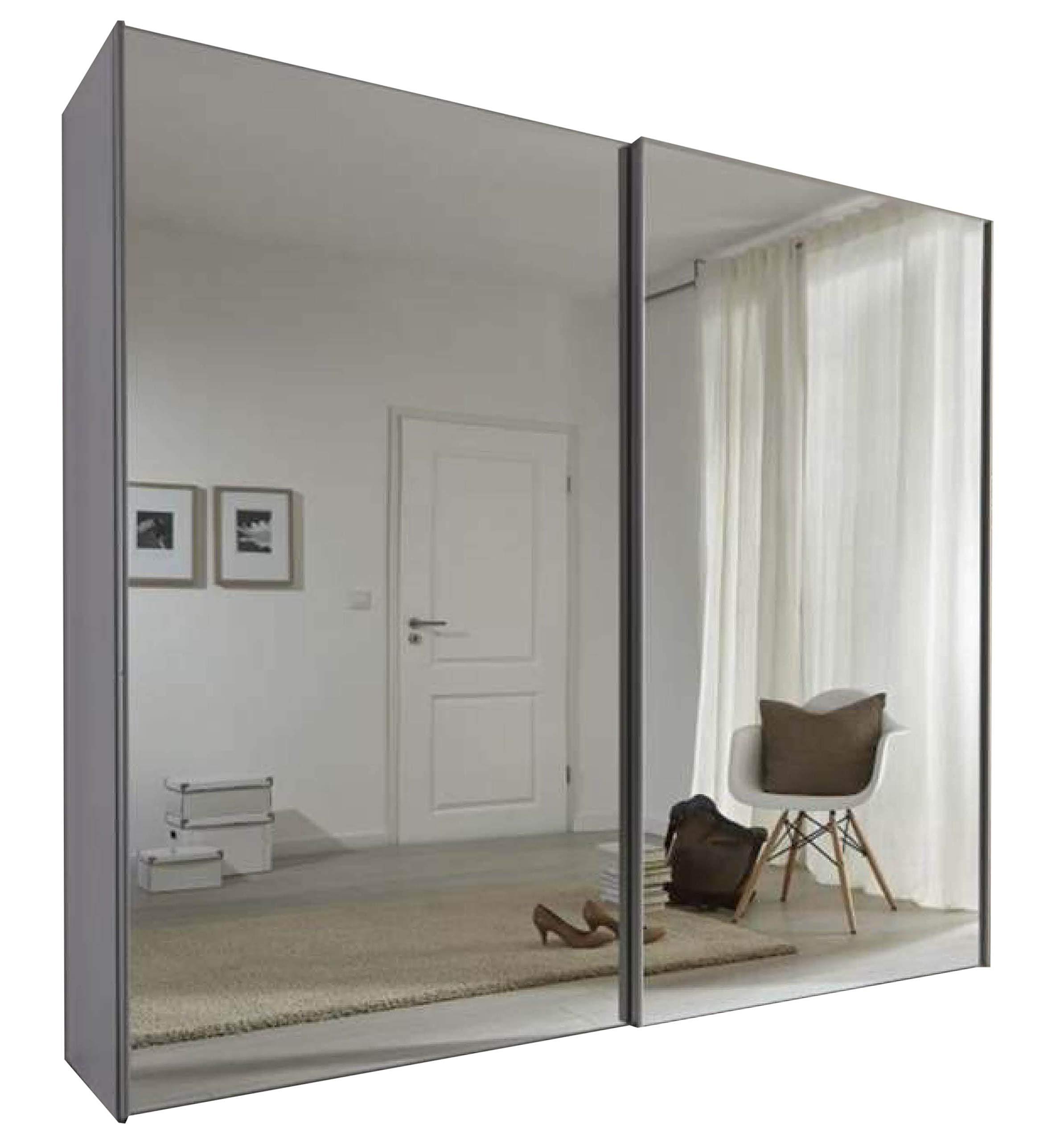 Displaycabinetsuk Komet White Mirror Sliding Door Wardrobe 236cm Wide German Made Bedroom Furniture Buy Online In Haiti At Haiti Desertcart Com Productid 65741931