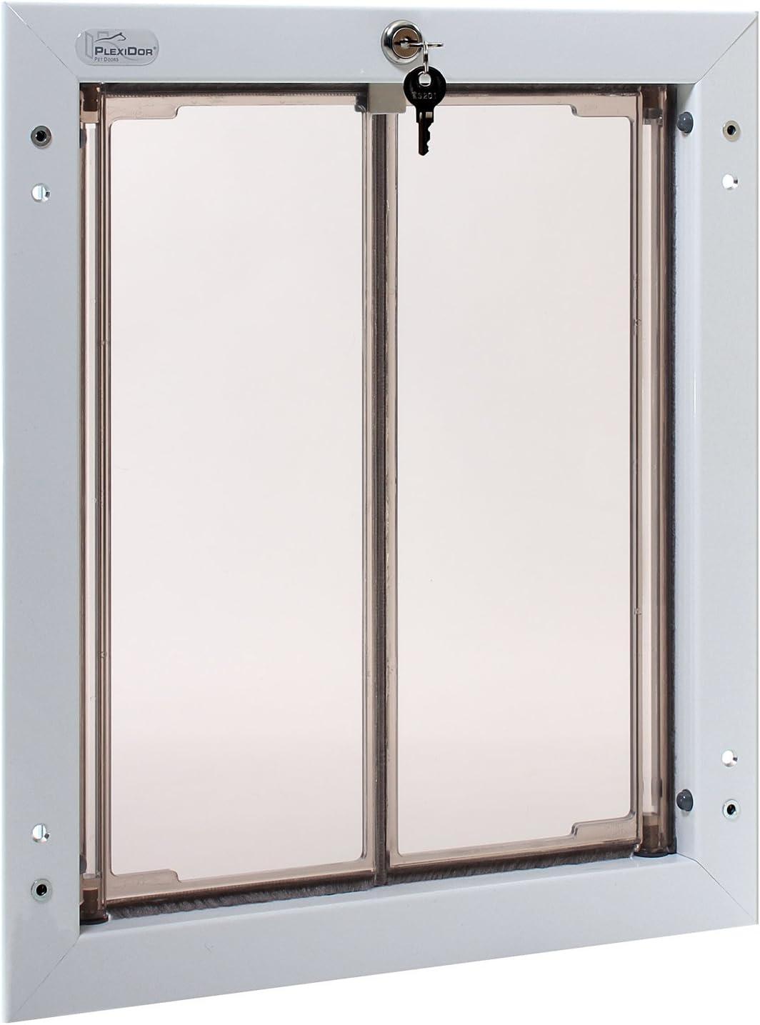 PlexiDor Performance Pet Doors Large White Door Mount by PlexiDor Performance Pet Doors