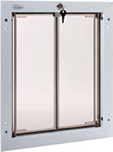 PlexiDor Performance Pet Doors for Dogs and Cats - Door Mount Dog Door with Lock and Key - White, Multiple Sizes