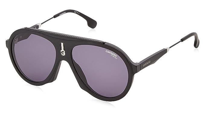 Carrera Unisex-Erwachsene Sonnenbrille Flag IR 003, Schwarz (Matte Black/Grey Bluee), 57