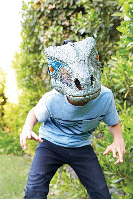 Jurassic World Chomp 'n Roar Mask Velociraptor ''blue'' by Jurassic World Toys (Image #5)