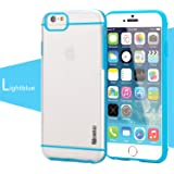 iPhone 6 / iPhone 6S Case - Poetic [Atmosphere Series] - [Lightweight] [Slim-Fit] Slim-Fit Tranparent Hybrid Case for Apple iPhone 6 /iPhone 6S 4.7inch Clear/Light Blue (3 Year Manufacturer Warranty From Poetic)