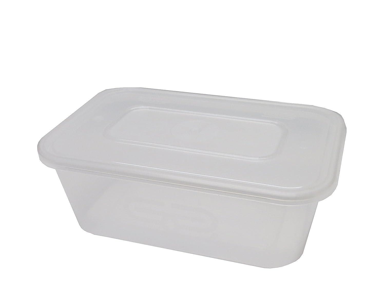 Superior de plástico Pan büchsen, congelador de microondas y – Essen recipiente y tapa Ideal para y almacenar fertiggerichten, Chili, sobras, arroz, ...