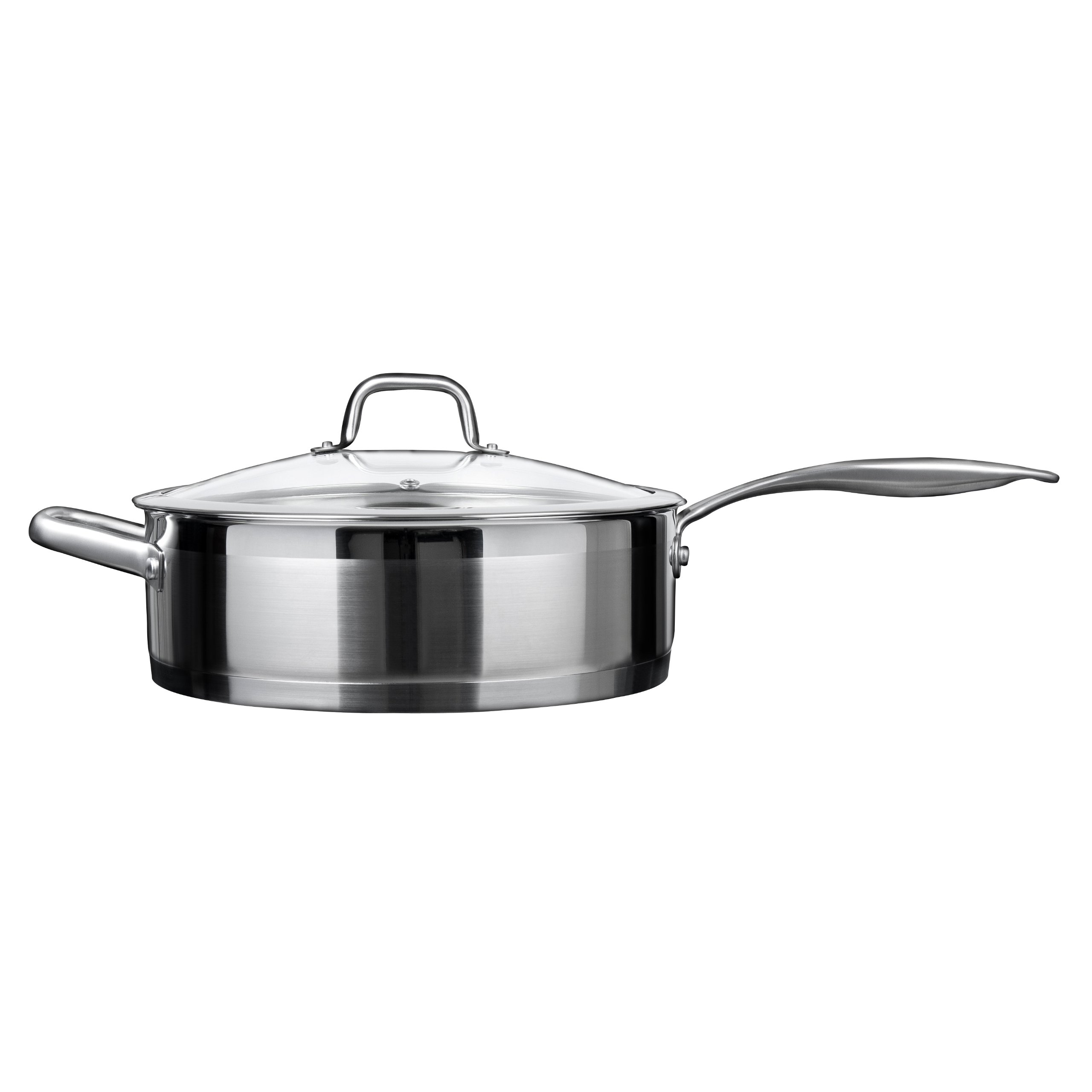 Duxtop Professional Stainless-steel Induction Ready Cookware Impact-bonded Technology (5.5Qt Saute Pan)