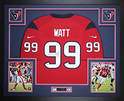 brand new ed4cb a9088 JJ Watt Autographed Red Texans Nike Jersey - Beautifully ...