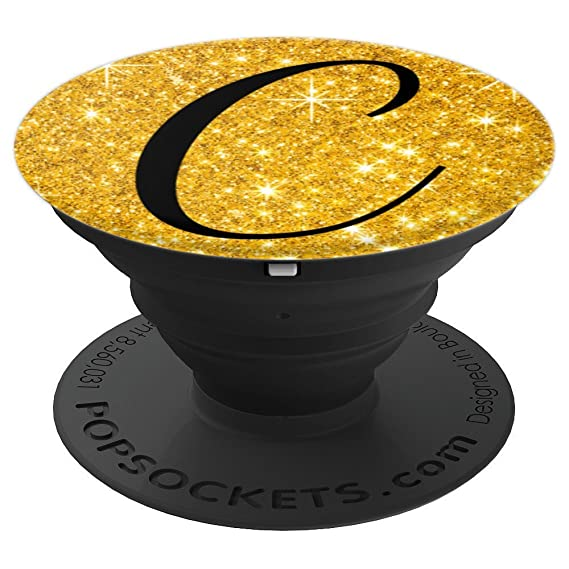 Amazon com: Gold Glitter Effects INITIAL NAME : C