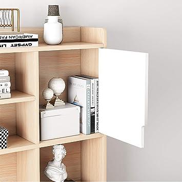 cm 138 x 141 x 101 Dmora Scrivania angolare con libreria Colore Bianco e Rovere