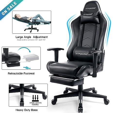 Amazon.com: GTracing - Silla de oficina ergonómica con ...