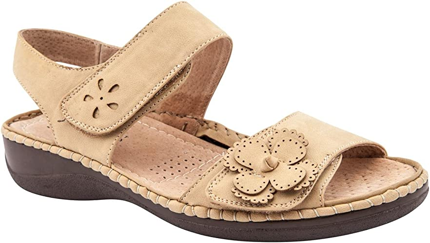 Caravelle Ladies Wide Fit Dotty Knot