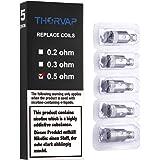 THORVAP® (5x) TF2 Mini Resistenza (0.5 ohm), OCC Bobina con Acciaio Inossidabile Riscaldamento Filo, compatibile con TF2 Mini Atomizzator, TF2 Mini 30W/40W KIT, Smart Mini 30W KIT. NO Liquidi | NO Nicotina
