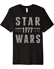 Star Wars 1977 Vintage Collegiate Retro Graphic T-Shirt