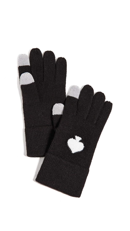 Kate Spade New York Women's Spade Tech Gloves Black/Cream One Size