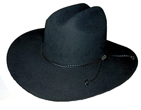 eaf46f2349 Stetson 0462 Carson Color Black Cowboy Hat at Amazon Men s Clothing ...