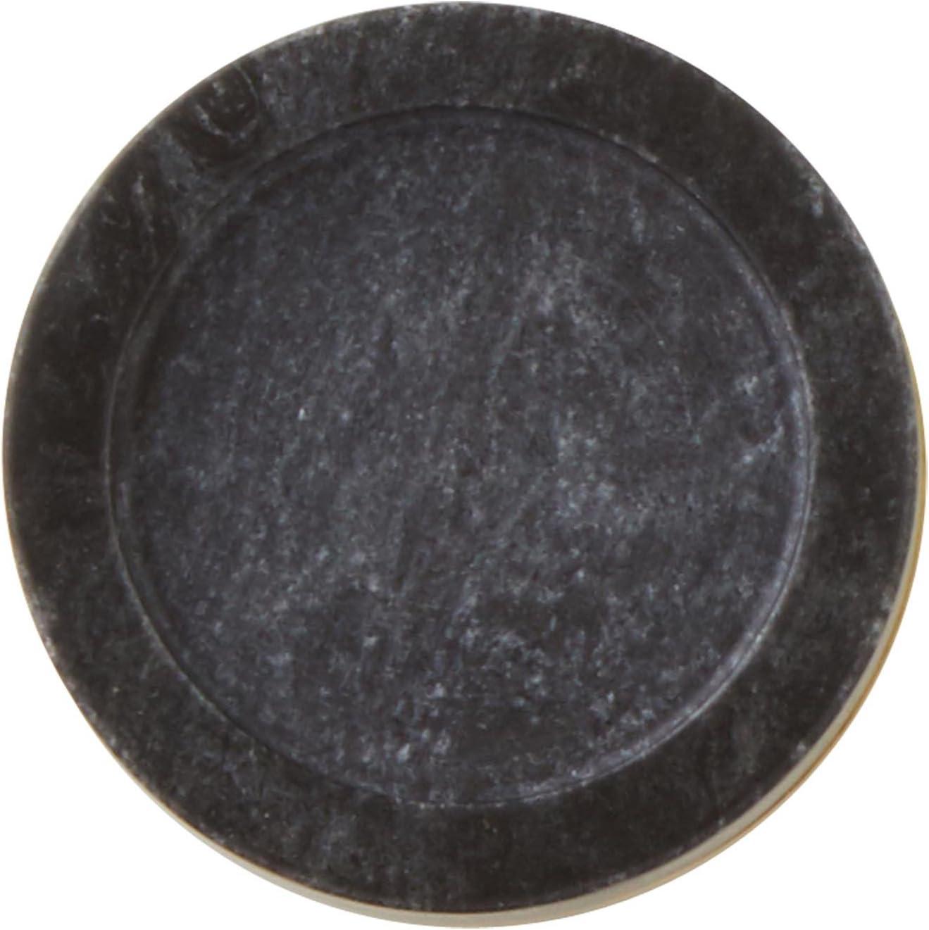 Madura 16931 Marble Support de Bougie Marble Marbre Gris fonc/é et Or 11 x 3.5 x 11 cm