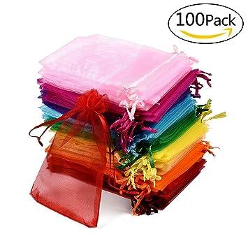 100 pieza bolsitas bolsas de organza organza bolsa de regalo ...