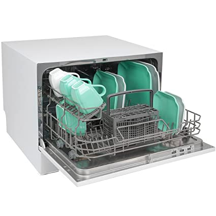 Ensue Portable Countertop Dishwasher Portable Compact Dishwashing Machine White