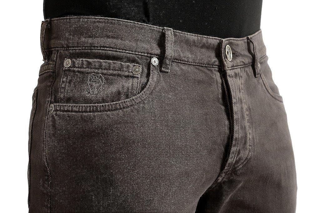 Brunello Cucinelli Mens Dark Brown Slim Fit Jeans