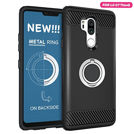 sito affidabile c52db 63017 LG G7 Case - LG G7 ThinQ Protective Case with Metal Stand Ring - LG G7  ThinQ Heavy Duty Phone Case - Rugged TPU Cover - LG G7 Shockproof Defender  Case ...