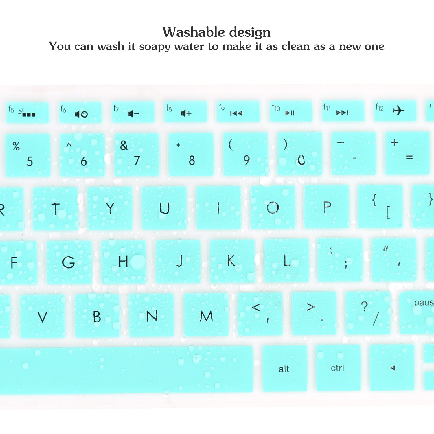 """Keyboard Cover Compatible 2019 2018 HP Pavilion 15 Series //2019 2018 HP Pavilion x360 15.6/"""" Series//HP Envy x360 15.6/"""" Series//HP Envy 17 Series//HP Laptop 15t 17t 17-ca0011nr 17-by0040nr Blue"""