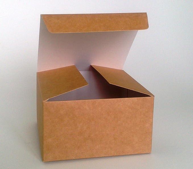 Paquete De 2 x Caja De Regalo Para Armarla Uno Mismo (Código #B) Cartulina Paquete Plano, Caja De Regalo Ideal Para Chocolates, Joyería, Regalos Pequeños: ...