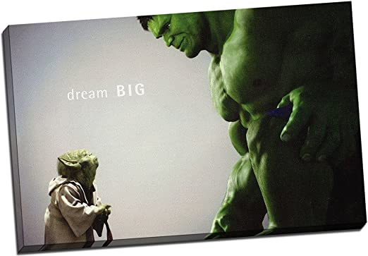 FRAMED CANVAS PICTURE WALL ART PRINT Various Sizes HULK MARVEL COMIC COLLAGE
