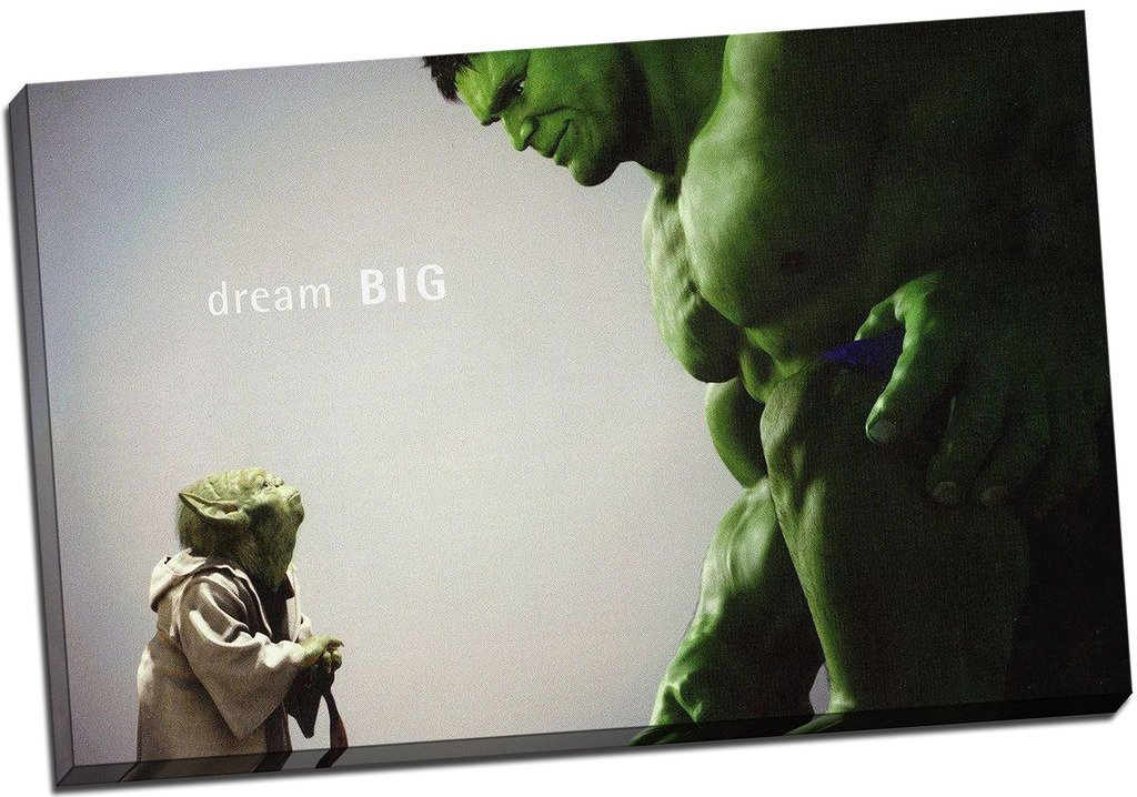 Panther Print The Hulk Comic Book Movie Canvas Picture Art Print Box Framed Canvas Picture Wall Art Print 20X30 Inches A1
