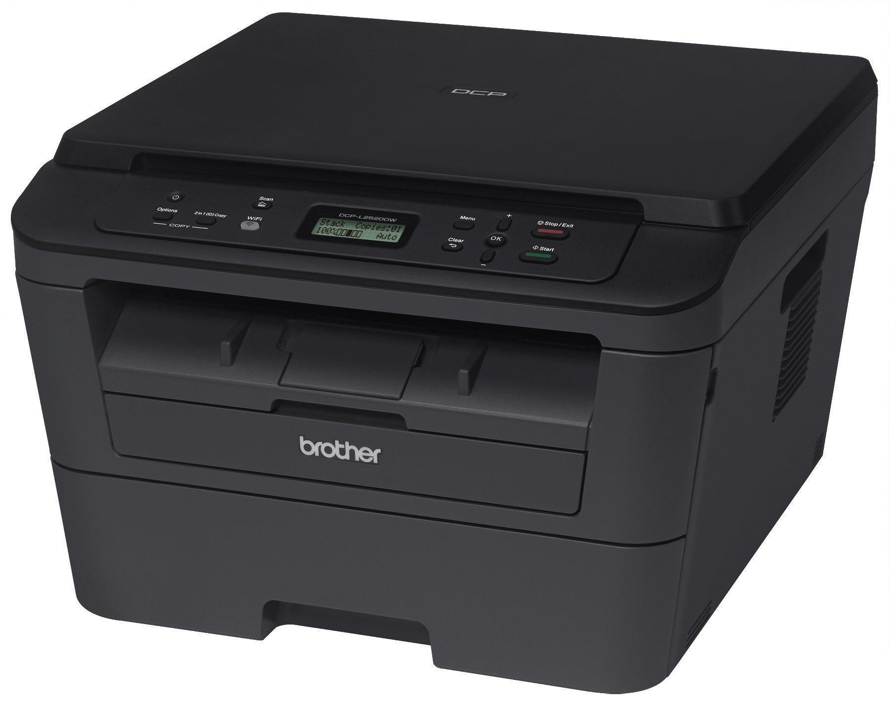 Brother DCPL2520DW Wireless Compact  Multifunction Laser Printer and Copier, Amazon Dash Replenishment Enabled by Brother (Image #2)