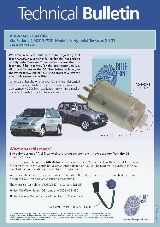 Blue Print Adg02342 Fuel Filter Pack Of 1 Car 2001 Pt Cruiser Motorbike
