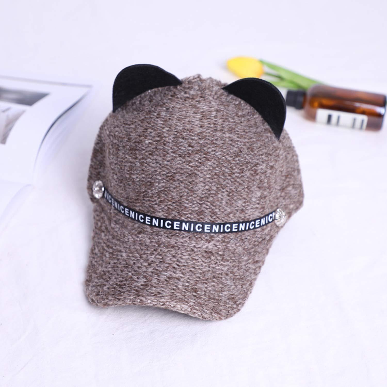 Women Girls Hats Spring Summer Cap cat Ears Hats Hip Hop Caps Wool Knit Baseball Cap