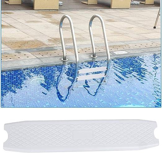 Cuque Escaleras Antideslizantes de plástico para Piscinas Paso, Escaleras de Piscina Pedal Reemplazo Pedal Accesorio Blanco: Amazon.es: Hogar
