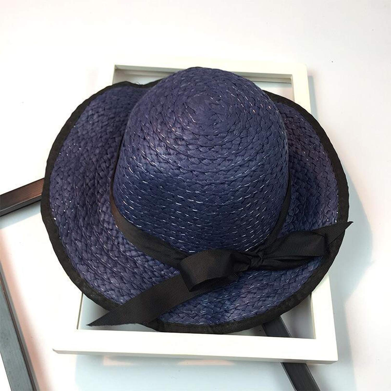Fashion Summer Casual Women Ladies Wide Brim Beach Sun Hat Elegant Straw Floppy Bohemia Cap
