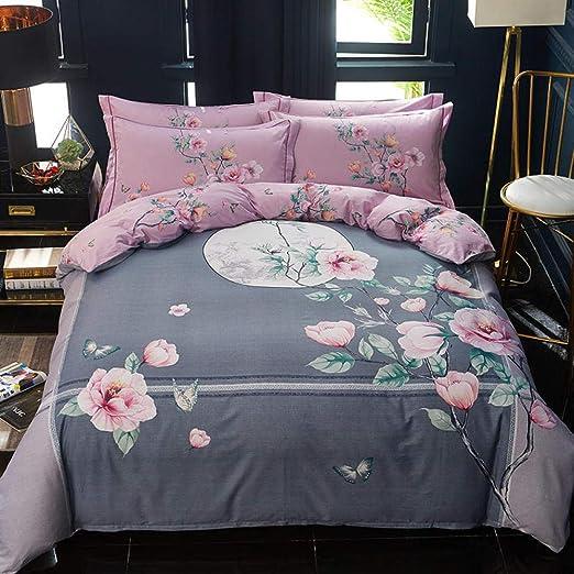 yaonuli Textiles para el hogar algodón Puro de Cuatro Piezas de ...