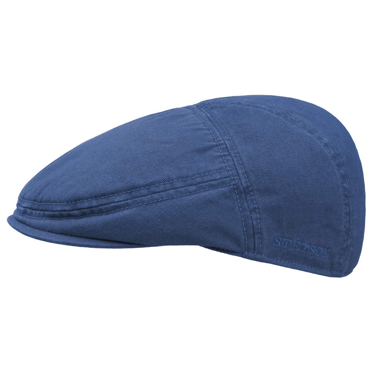 ed1c3a70 Stetson Men's Flat Cap Paradise cotton - blue: Amazon.co.uk: Clothing