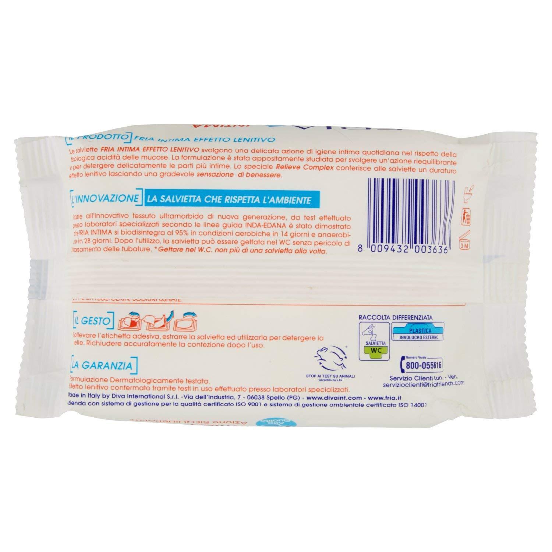 Fria - Intima - Toallitas húmedas intimas - 20 toallitas: Amazon.es: Salud y cuidado personal