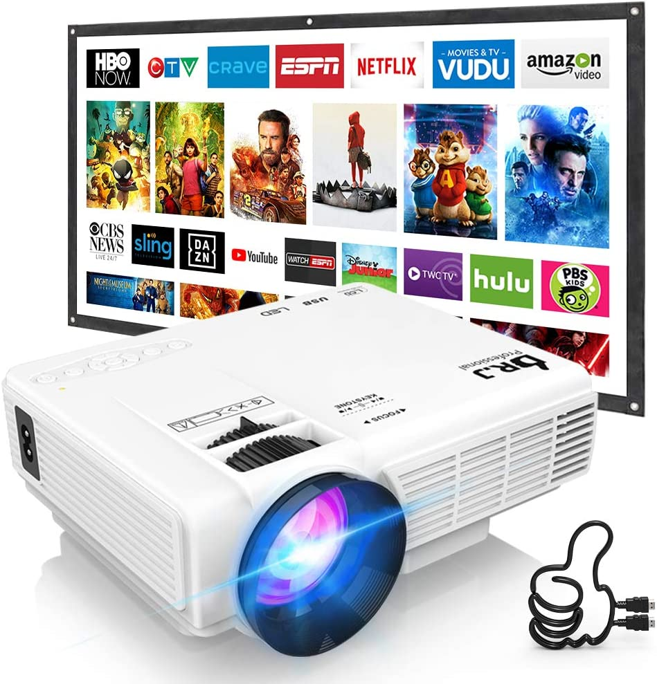 DR. J Professional HI-04 Mini Projector considered as one of the best mini gaming projectors