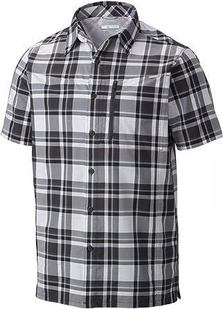 Columbia Sportswear - Camisa de Manga Corta para Hombre, diseño de Cuadros, Hombre, Color Shark Plaid, tamaño S: Amazon.es: Deportes y aire libre