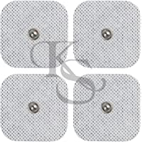 """Acuzone 40(2'x2"""") Pads TENS Snap Electrodes - Premium Quality Snap On Pads"""