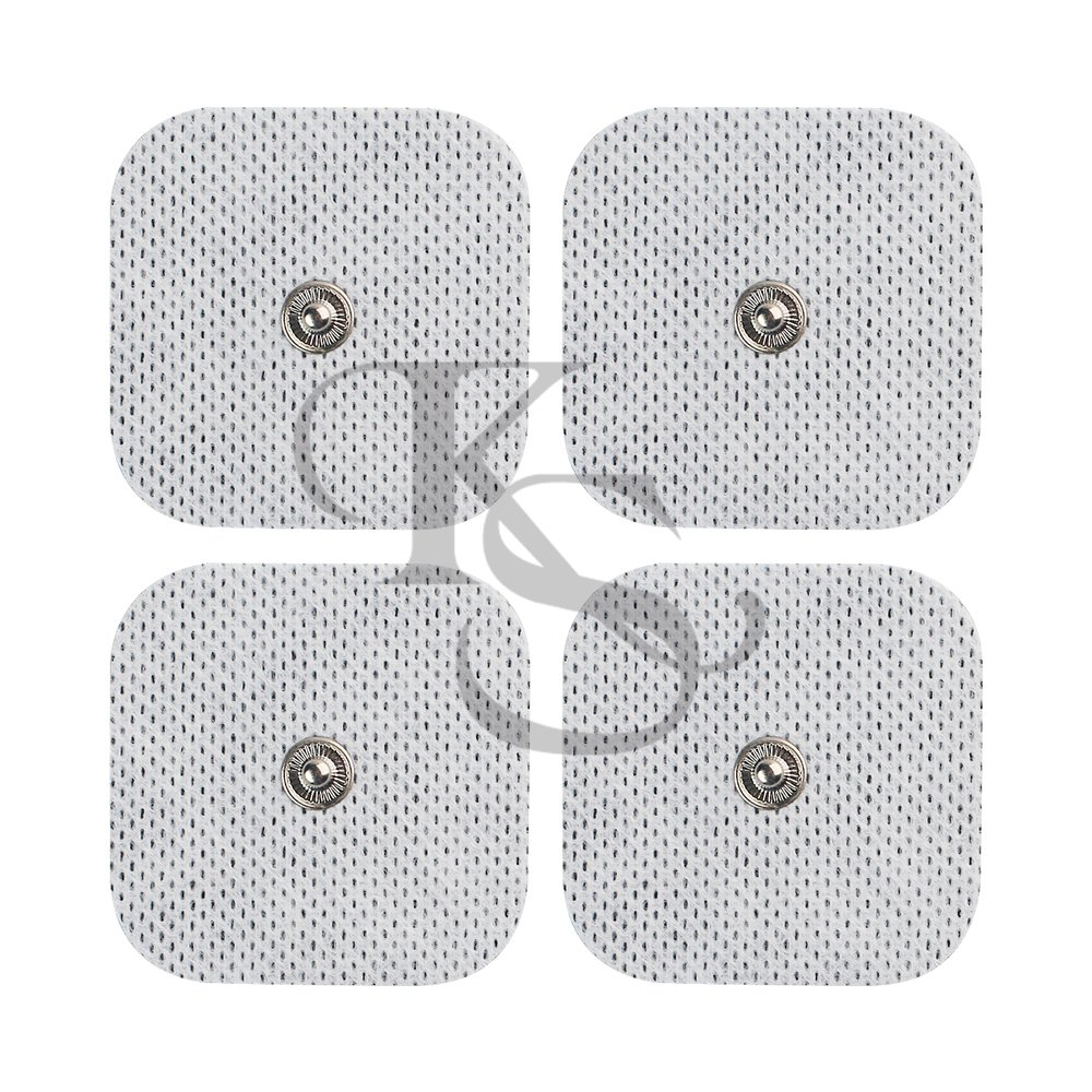 """Acuzone 40(2'x2"""")pads TENS Snap Electrodes - Premium Quality Snap On Pads"""
