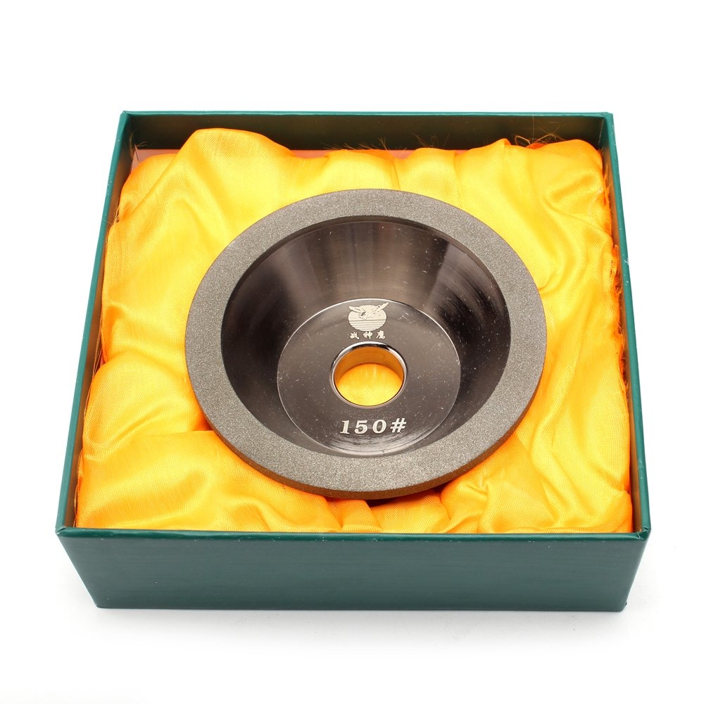 Electroplating Diamond Grinding Wheel cup grinding 150 Grit for Alloy Blade Tungsten 100x32x20x10x5mm by KUOFU