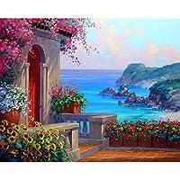 DACHUN11House DIY Digital olio pittura per adulti e bambini vernice da numero tela Room Home decorazioni da parete senza cornice 40x 50cm