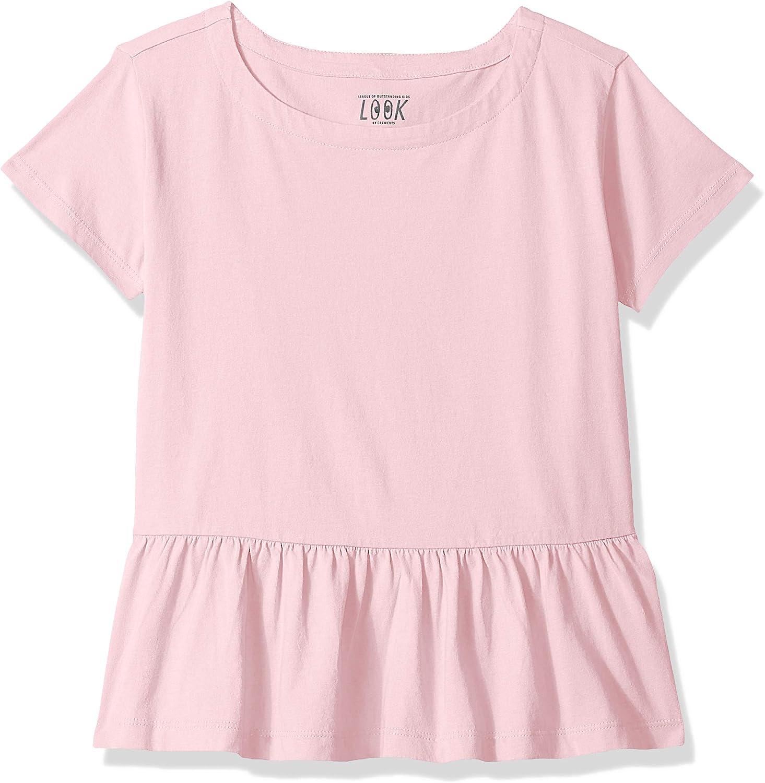 LOOK by crewcuts Girls Short Sleeve Peplum tee Crew Brand // J