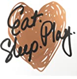 "Linden Ave AVE10054 Eat Play Sleep Wall Décor, 12"" x 12"", Rose Gold"