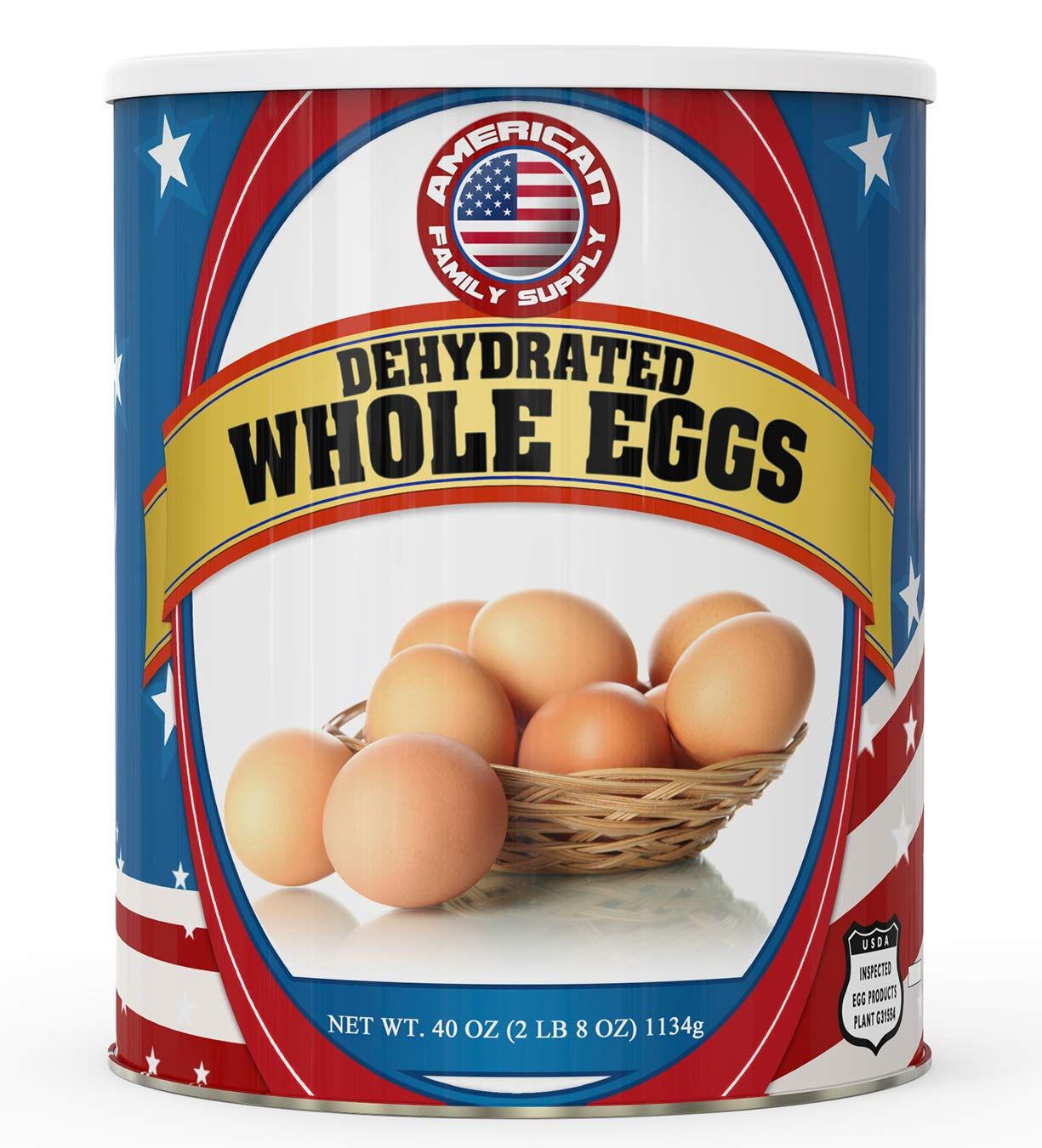 Fresh and Honest Foods Dehydrated Whole Eggs 40 OZ #10 Can (94 Servings). Up to 10+ Years Shelf Life. Perfect for Emergencies, Food Storage, Survival, Camping, and more.