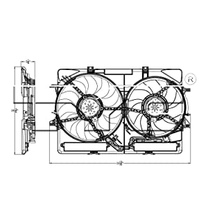 TYC 622940 Audi Replacement Cooling Fan Assembly
