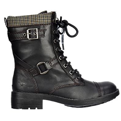 6005a87172 Rocket Dog Ladies Womens Thunder Military Ankle Boots - Derby Black / Brown  / Tan UK3