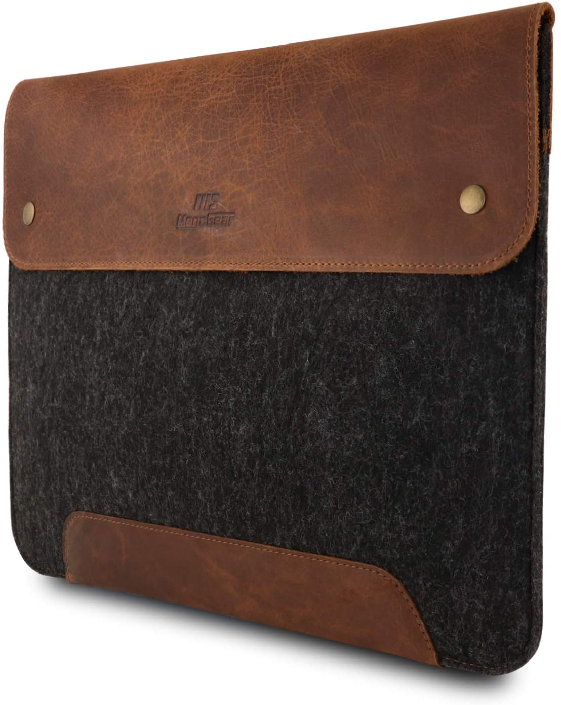 MegaGear Genuine Leather and Fleece MacBook Bag 13.3 Inch